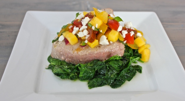 Tuna Steak with Mango Salsa