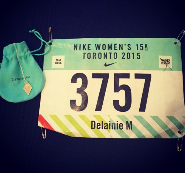 Race bib & bling