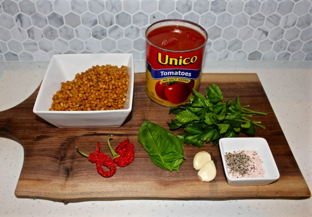 Ingredients - Lentil & Tomato Soup