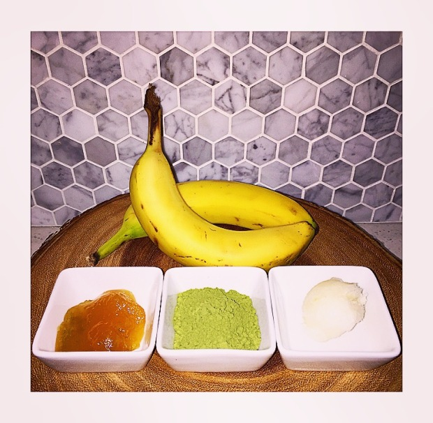 Banana Matcha Mask Ingredients