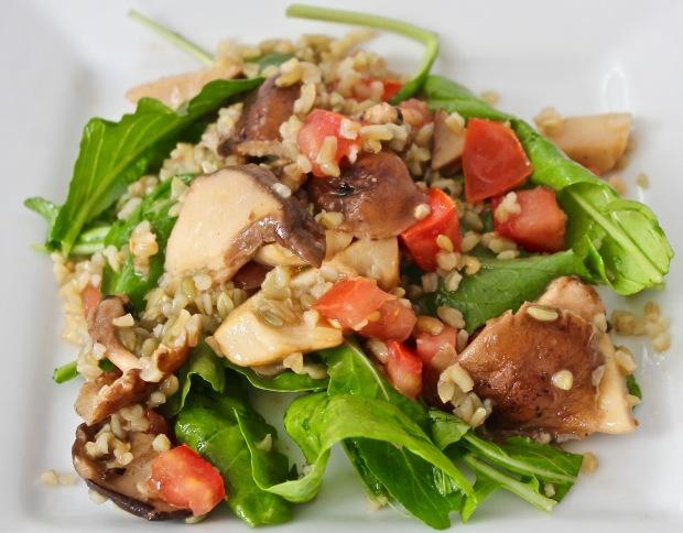 Wild Mushroom Freekeh Salad