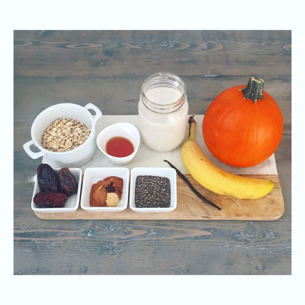 Pumpkin Spice Smoothie Ingredients